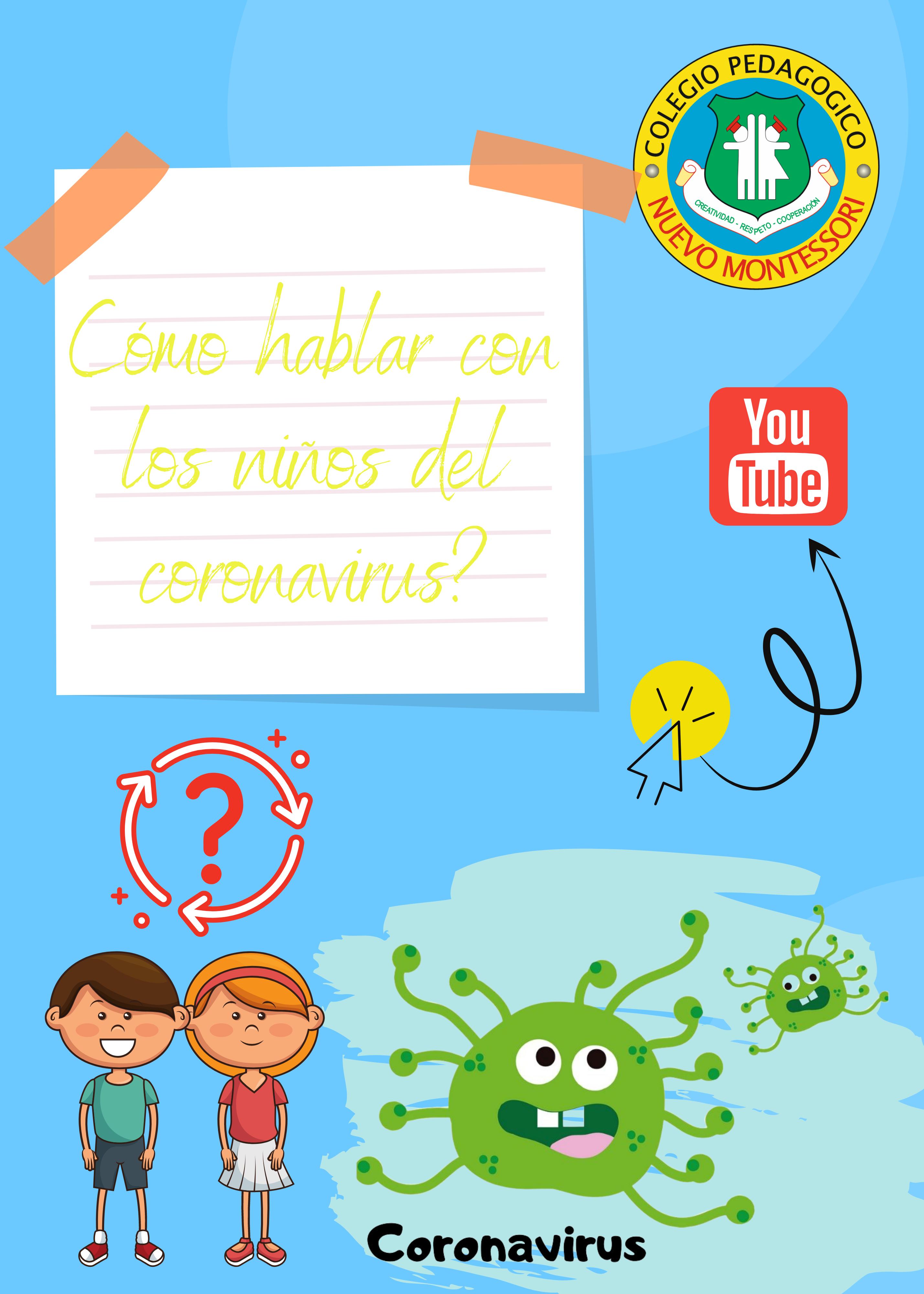 Cómo hablar con los niños del coronavirus?